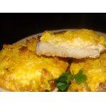 Запечeнное мясо под сырным суфле и хрустящей корочкой