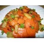 Жареная морковь с ананасом