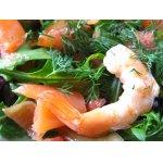 "Салат   из   семги,   креветок   и   грейпфрута   с   соусом   ""Wasabi"""