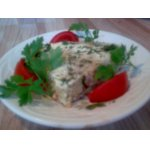 Запеканка из картофеля и крабовых палочек