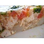Холодный куриный террин с томатами, спаржей и базиликом