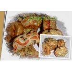 Закусочные кексики с баклажанами и помидорами