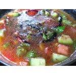 Холодный  овощной суп с авокадо