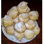 Заварные пирожные с масляно-заварным кремом