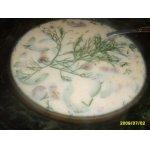Огуречно-сливочный суп с копчeностями