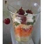 Слоеный салатик с вишней