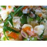 Салат   с   макаронами,   семгой   и   овощами