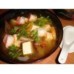 Мисо-суп с тофу и креветками