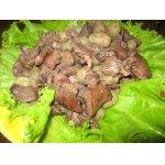 Теплый салат из куриной печени и винограда