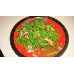 Зеленая стручковая фасоль с грибами