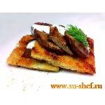 Печень под сливочным соусом «фламбе»