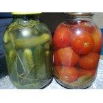 """Огурцы и помидоры, консервированные без стерилизации                                    """"Фейерверк вкуса"""""""