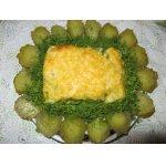 Запеканка из судака с овощным пюре