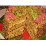 Торт творожно-медовый с кремом из кефира