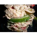 Салат из курицы, зеленых помидоров и болгарского перца