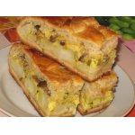 Пирог  картофельно-грибной с сыром