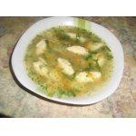 Суп с клeцками из манной крупы