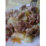 Желудочки куриные с картофелем в