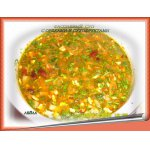 Фасолевый  суп  с  орехами  и   сухофруктами