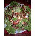 Тeплый салат с печенью кролика