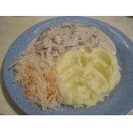 Курица с грибами в сметанном соусе