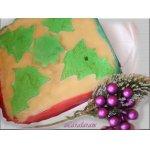 Торт марципановый (новогоднее оформление)