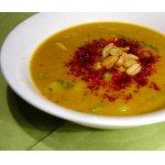 Арахисовый суп с овощами и курицей