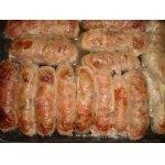 Колбаски с гречкой, мясом и грибами