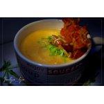 Сливочно-сырный крем-суп из овощей с опятами