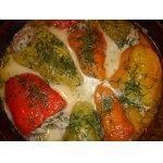 Перец фаршированный рисом и мясом