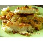 Морской язык с румяной картошечкой в духовке