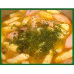 Суп из кислой капусты с сосисками
