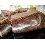 Шоколадно-творожный пирог «Мраморное море»