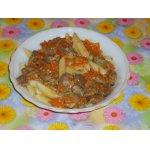 Соус для макаронов из пряных куриных желудочков
