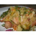 Тушеная капуста с картофелем и сосисками