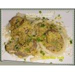 Меззанелли с куриной печенью и сливками