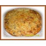 Картофельно-грибной киш с сыром в сливкаx