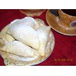 """Песочное пирожное """"Багратион"""" с  начинкой из рубленых орехов и безе"""