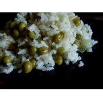 Рис с зеленым горошком, луком и тимьяном