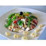 Макаронный салат с ветчиной и овощами