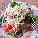 Салат с рукколой и сeмгой