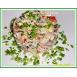 Крабовый салат с грибами