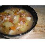 Овощной суп с беконом