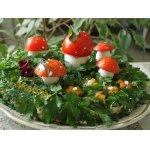 """Закусочный грибной торт """"Лесная полянка"""""""