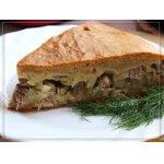 Мясной пирог с картофелем и луком-пореем