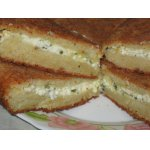 Пирог с сыром на творожном тесте