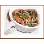 Кебабы жаренные с грибами шиитаке и луком