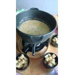 Сырное фондю с сухариками