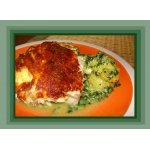 Рыба с овощами под сырным соусом в аэрогриле