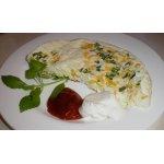 Омлет с болгарским перцем и зеленым луком
